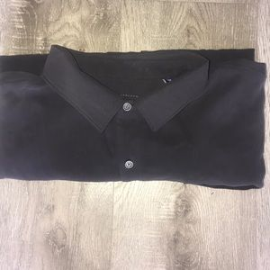 Tommy Bahama Black Long Sleeve Silk Shirt